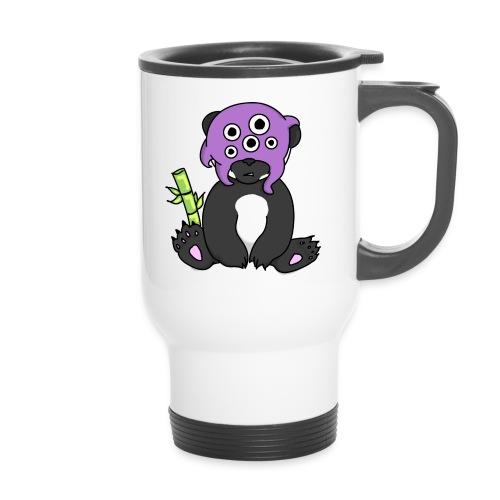panda procrastinateur png - Tasse isotherme avec poignée