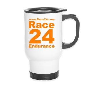 Race24 Logo in Orange - Travel Mug
