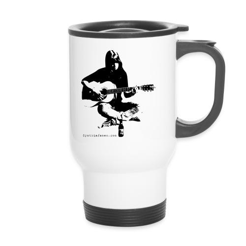 Cynthia Janes guitar BLACK - Travel Mug