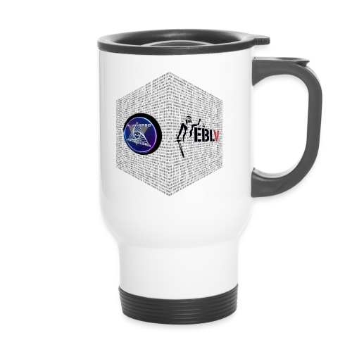 disen o dos canales cubo binario logos delante - Thermal mug with handle