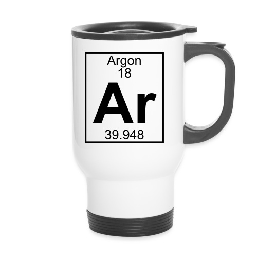 Argon (Ar) (element 18) - Travel Mug