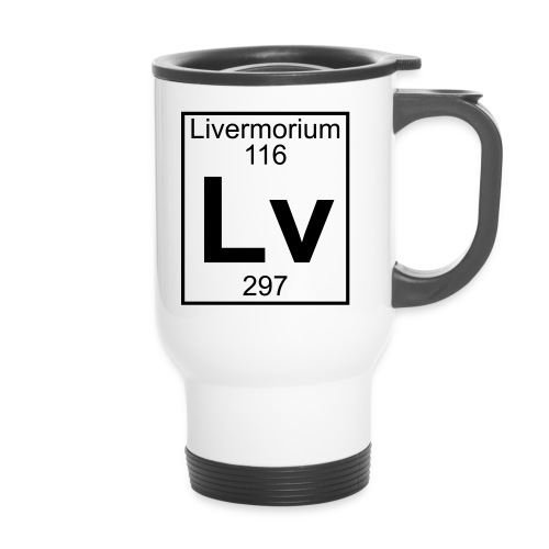 Livermorium (Lv) (element 116) - Thermal mug with handle