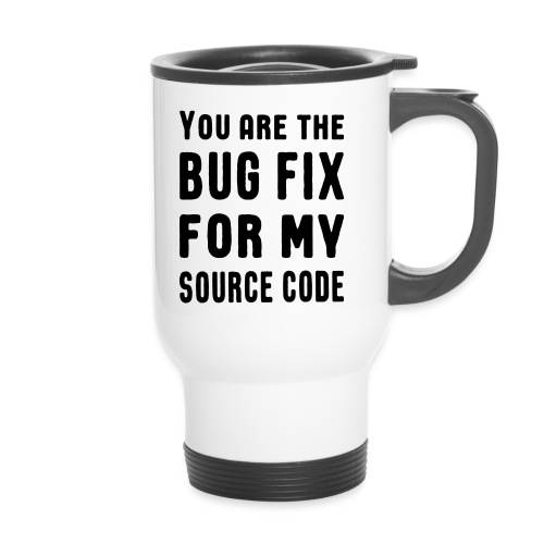 Programmierer Beziehung Liebe Source Code Spruch - Thermobecher