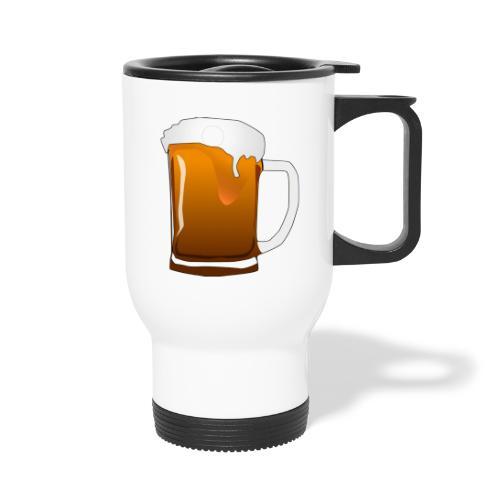 Cartoon Bier Geschenkidee Biermaß - Thermobecher mit Tragegriff