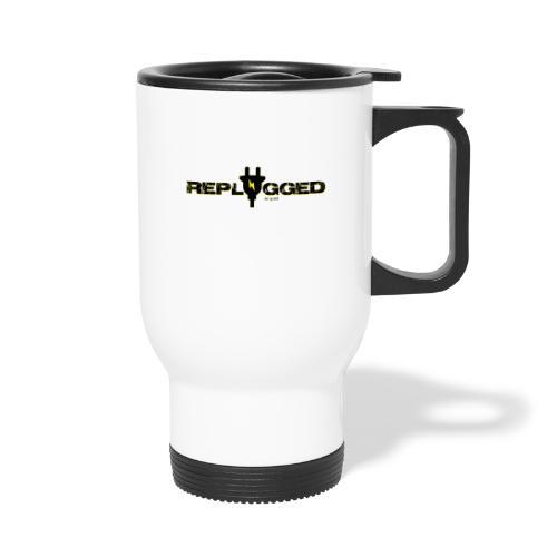 Replugged Singles - Clip Art Black - Thermal mug with handle