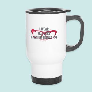 Wearing Glasses - Red - Mug thermos