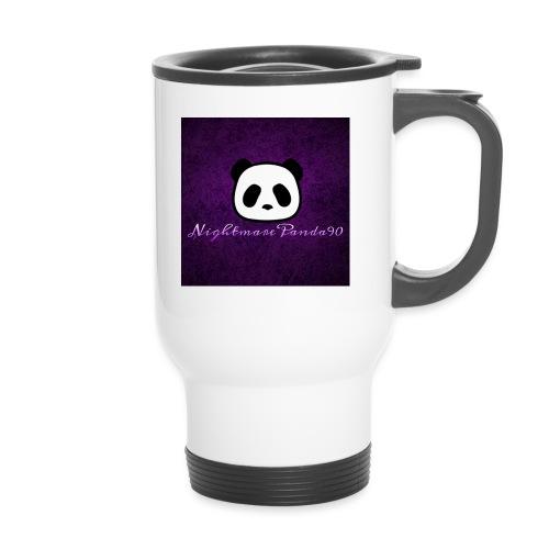 nightmare panda watermark - Thermal mug with handle
