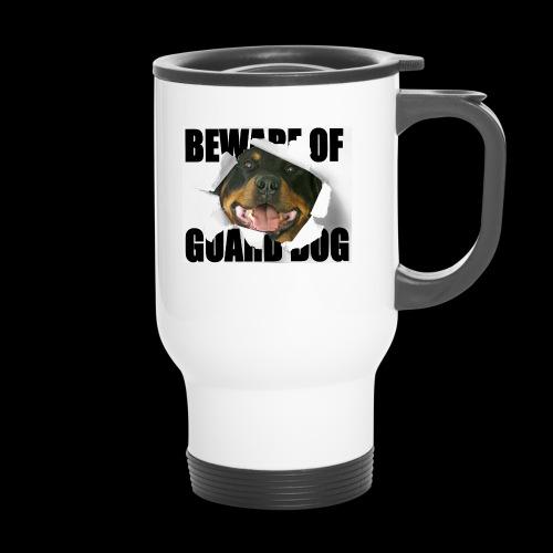 beware of guard dog - Travel Mug