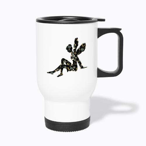 fairy abstract - Thermal mug with handle