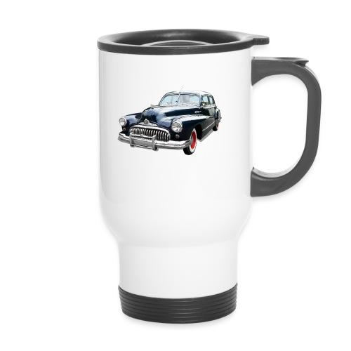 Classic Car. Buick zwart. - Thermo mok