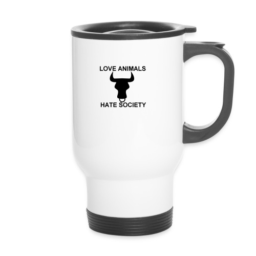 LOGO LOVE ANIMALS HATE SOCIETY - Mug thermos