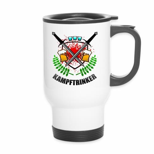 Kampftrinker Sauftour Team Bier Schnaps - Thermobecher mit Tragegriff