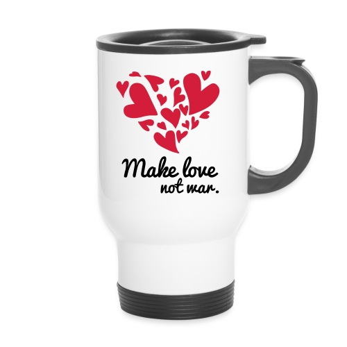 Make Love Not War T-Shirt - Thermal mug with handle