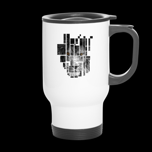 Pixel Lion Tattoo Inspire - Thermal mug with handle