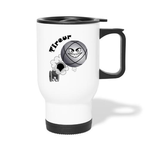 t shirt pétanque tireur boule existe en pointeur N - Mug thermos