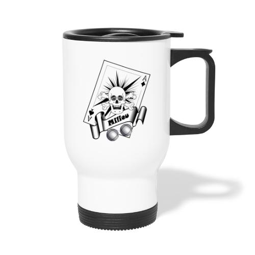 t shirt petanque milieu crane rieur as pointe tir - Mug thermos