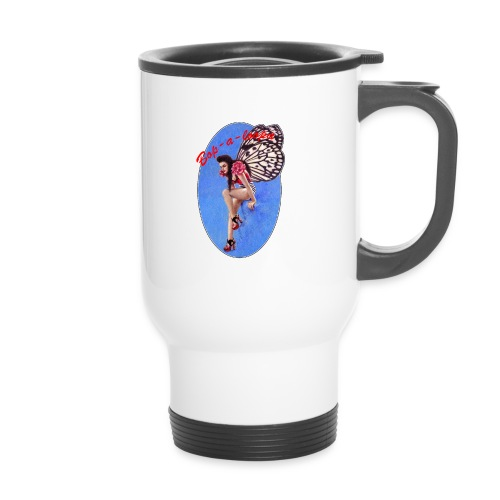 Vintage Rockabilly Butterfly Pin-up Design - Travel Mug