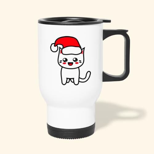 Kawaii Kitteh Christmashat - Thermobecher