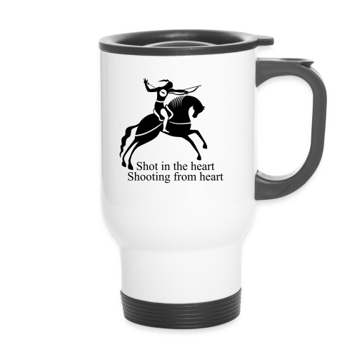 Shot in the Heart - Thermal mug with handle