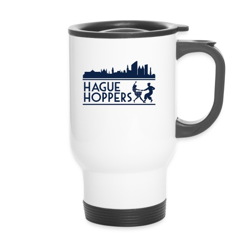 Hague Hoppers logo blue - Thermo mok