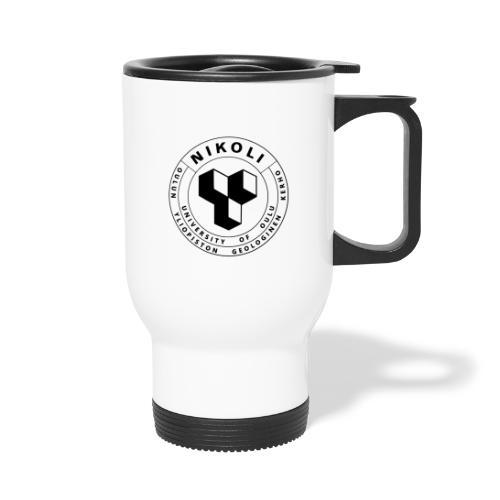 Nikolin musta logo - Kahvallinen termosmuki