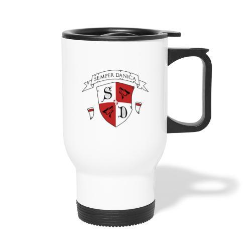 SD logo - hvide lænker - Termokrus med bærehåndtag