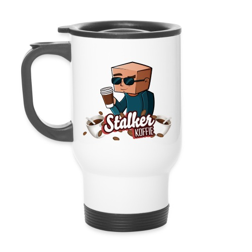 Stalkerkoffie banner png - Thermal mug with handle