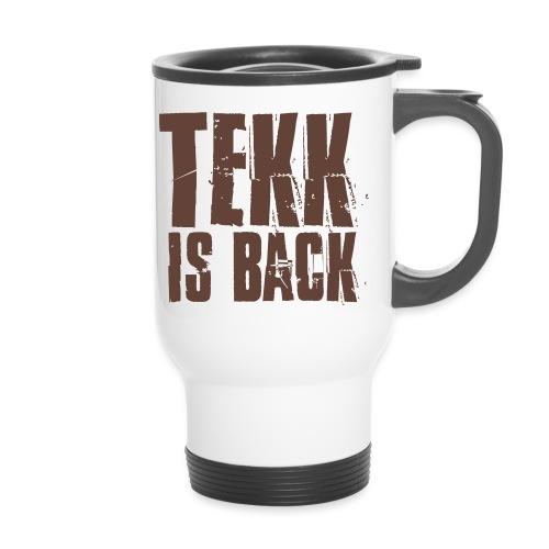 Tekk is Back weiss - Thermobecher mit Tragegriff