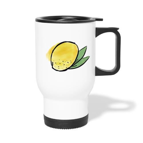 Lemon Heart - Kahvallinen termosmuki