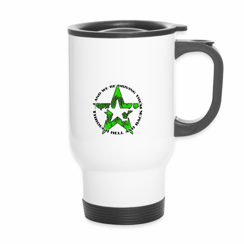 ra star slogan slime png - Thermobecher mit Tragegriff