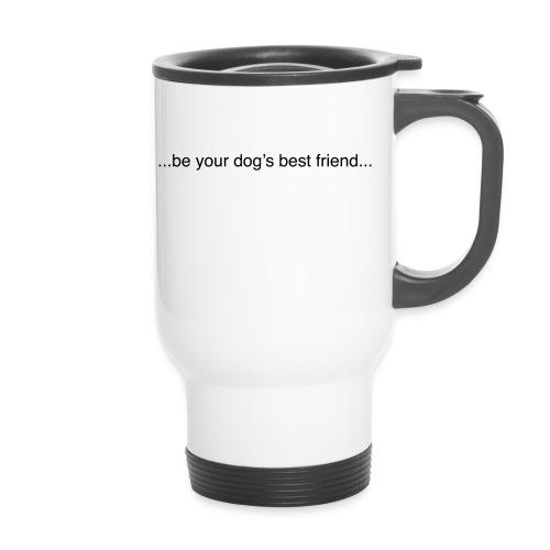 GoodBad svart CMYK (1) - Thermal mug with handle