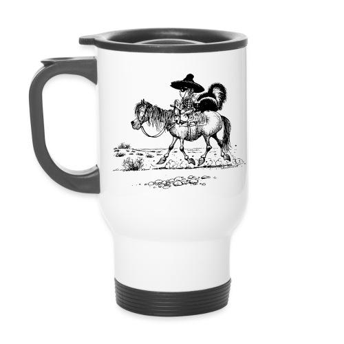 Thelwell 'Cowboy with a skunk' - Travel Mug