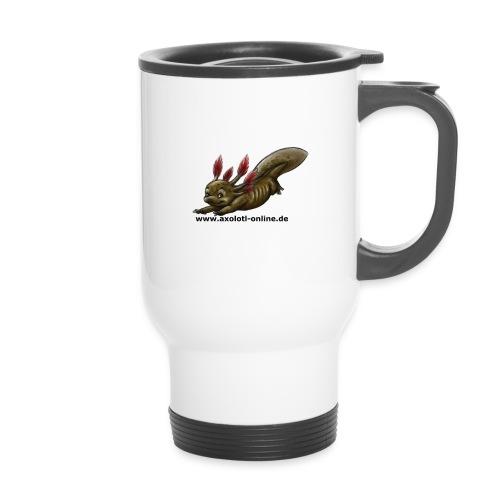 Axolotlshirt Männlein 1.png - Thermobecher mit Tragegriff