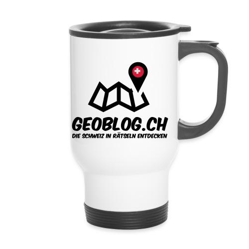 Logo+Schriftzug-hoch - Thermobecher mit Tragegriff