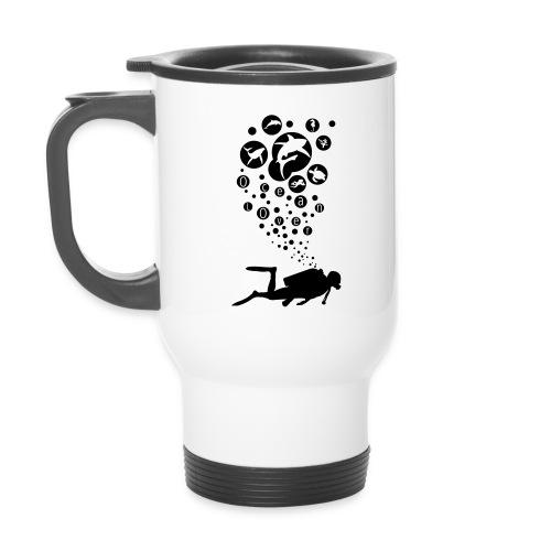 The Scuba Diver - Le plongeur - Tasse isotherme avec poignée