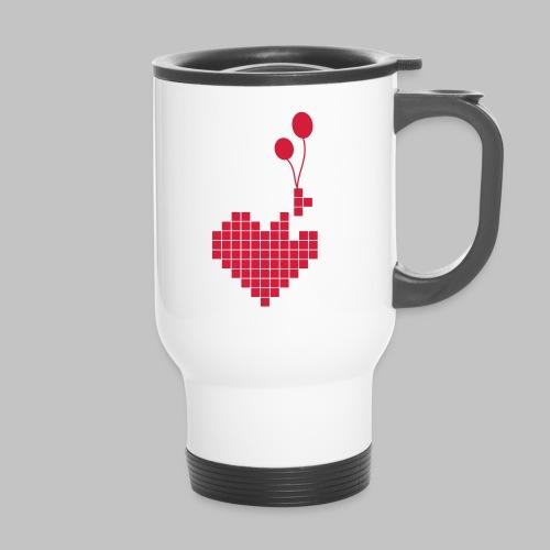 heart and balloons - Thermal mug with handle