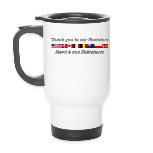 thank you to our liberators png - Tasse isotherme avec poignée