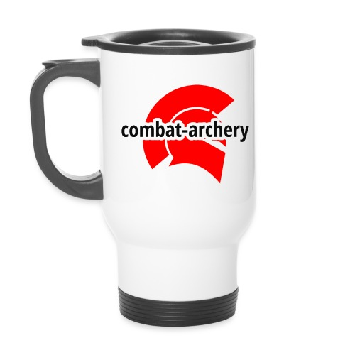 combat archery logo - Thermobecher