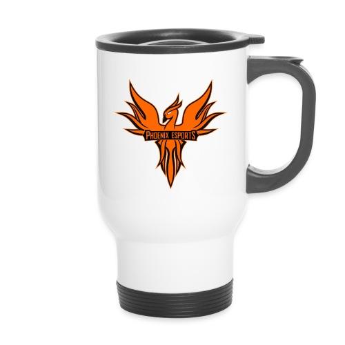 Phoenix Mascot 3Farben - Thermobecher mit Tragegriff