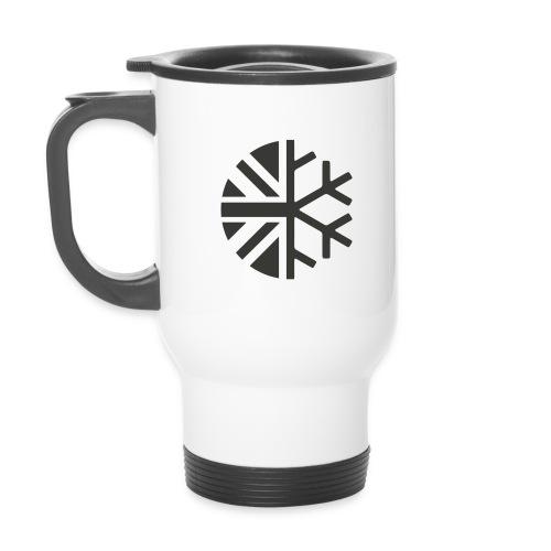 Dark_logo - Thermal mug with handle