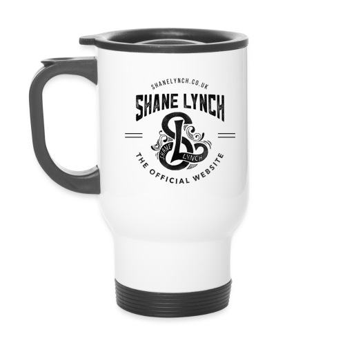 Black - Shane Lynch Logo - Thermal mug with handle