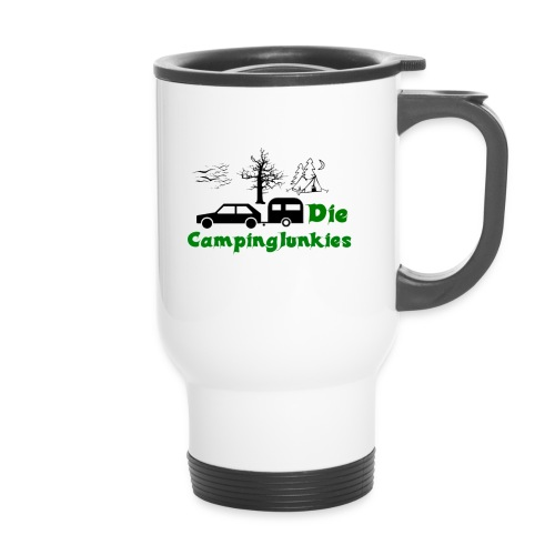 campingjunkies png - Thermobecher mit Tragegriff