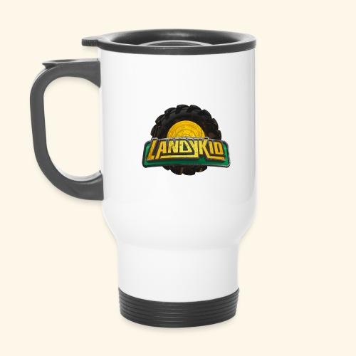LandyKid Logo XL trans png - Thermal mug with handle