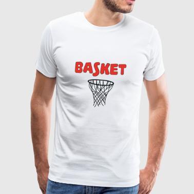 Basket addict - Premium T-skjorte for menn