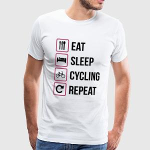 Eat Sleep Ciclismo Repeat - Maglietta Premium da uomo