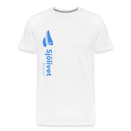 Sjölivet podcast - Svart logotyp - Premium-T-shirt herr