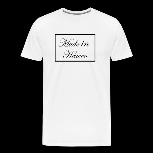 Made in Heaven Logo ,Black on white - Men's Premium T-Shirt