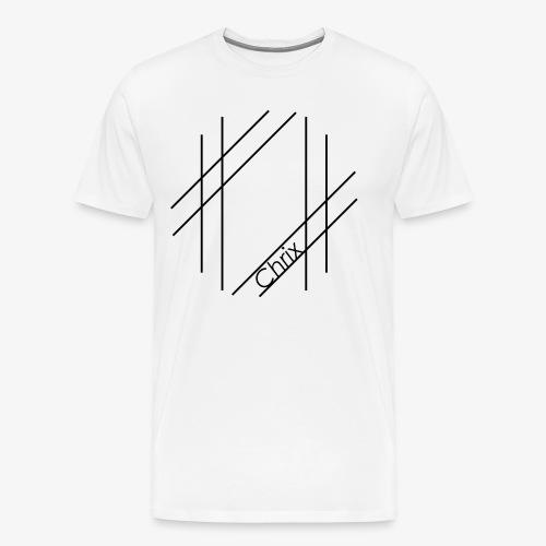 Chrix Style Logo Schwarz - Männer Premium T-Shirt