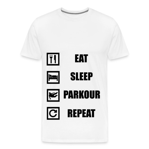 Eat Sleep Parkour_Repeat - Mannen Premium T-shirt