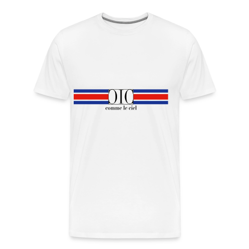 Retro T-Shirt tricoleur - Men's Premium T-Shirt